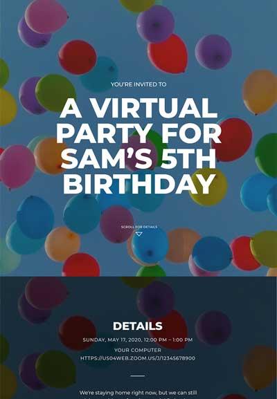 Kid's Birthday Sample Template