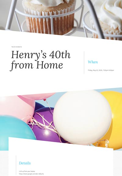 Adult Birthday Sample Template