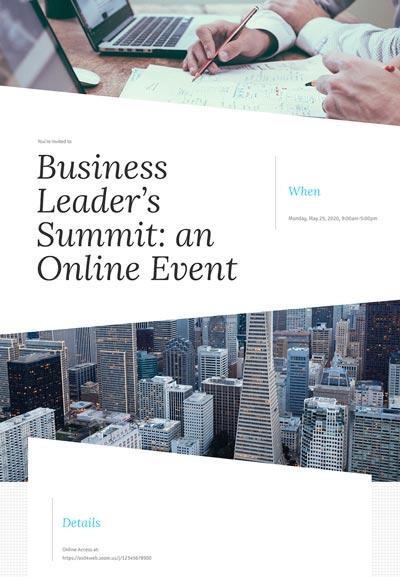 Business Meeting Sample Template