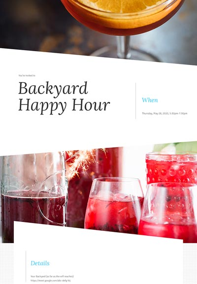 Cocktail Party Sample Template