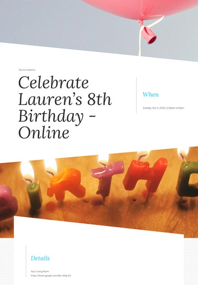 Kid's Birthday Sample Template