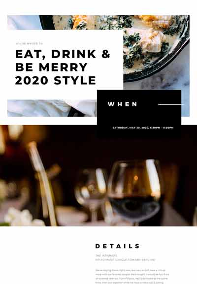 Dinner Party Sample Template