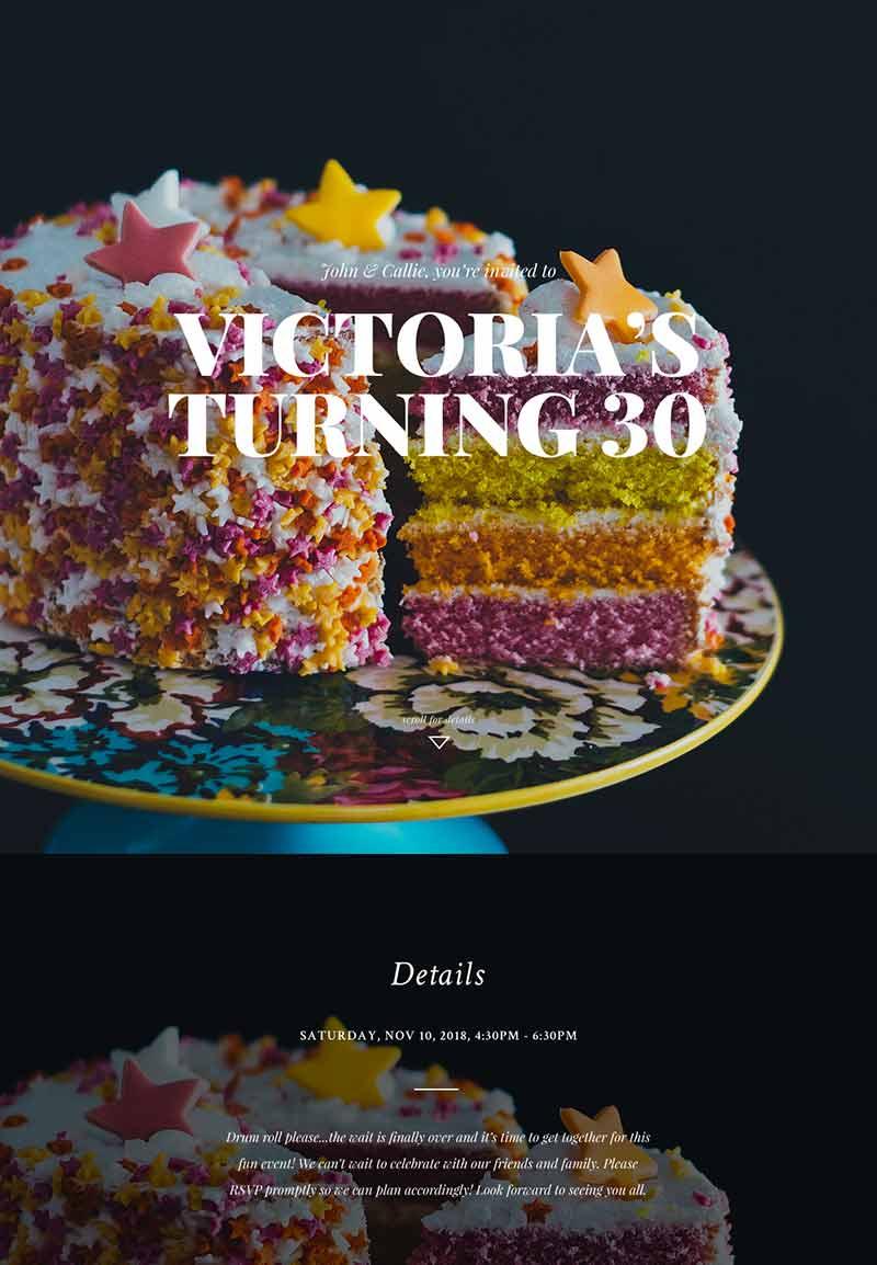 Nightlife - Milestone Birthday - Immersive Invitation