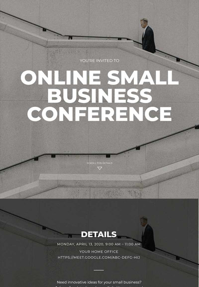 Business - Virtual Business Conference - Immersive Invitation