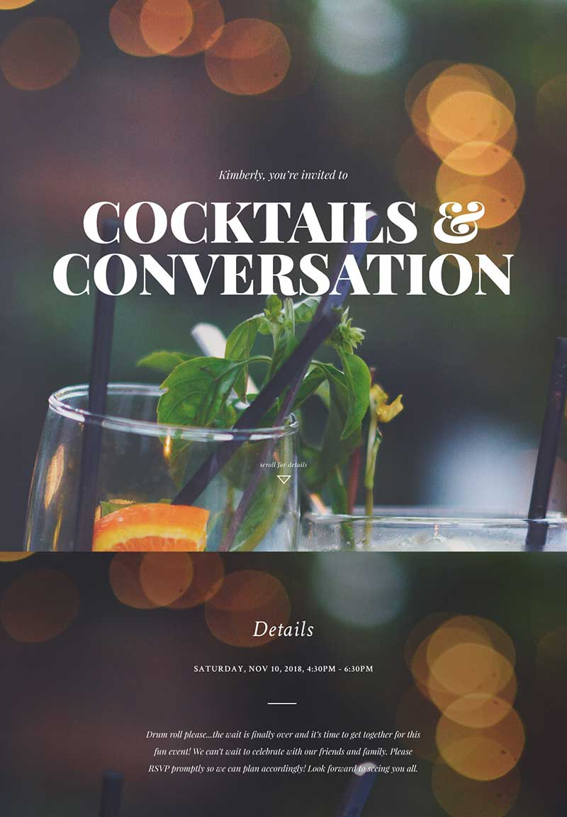 Nightlife - Cocktail Party - Immersive Invitation