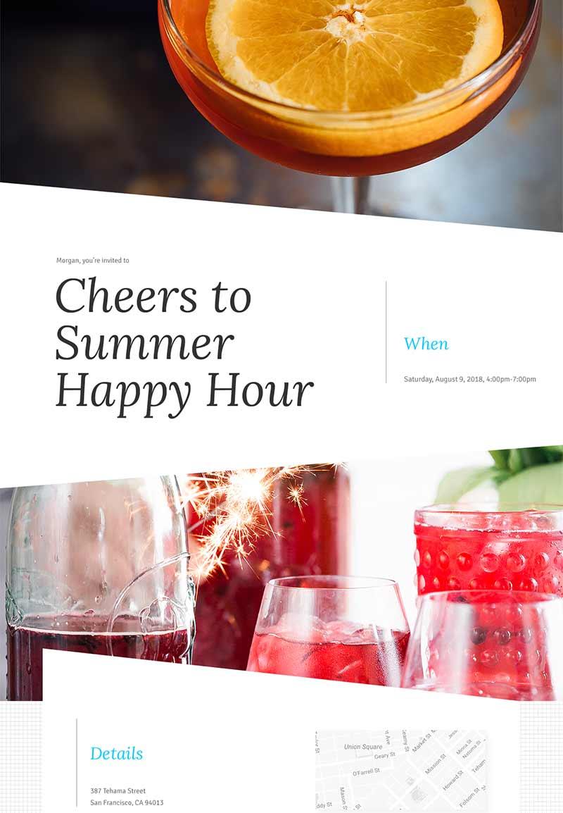 Nightlife - Cocktail Hour - Modern Invitation