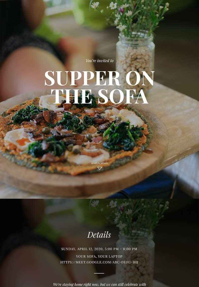Nightlife - Virtual Dinner Party - Immersive Invitation