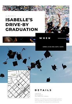 Graduation - Drive-By Graduation - Classic Invitation