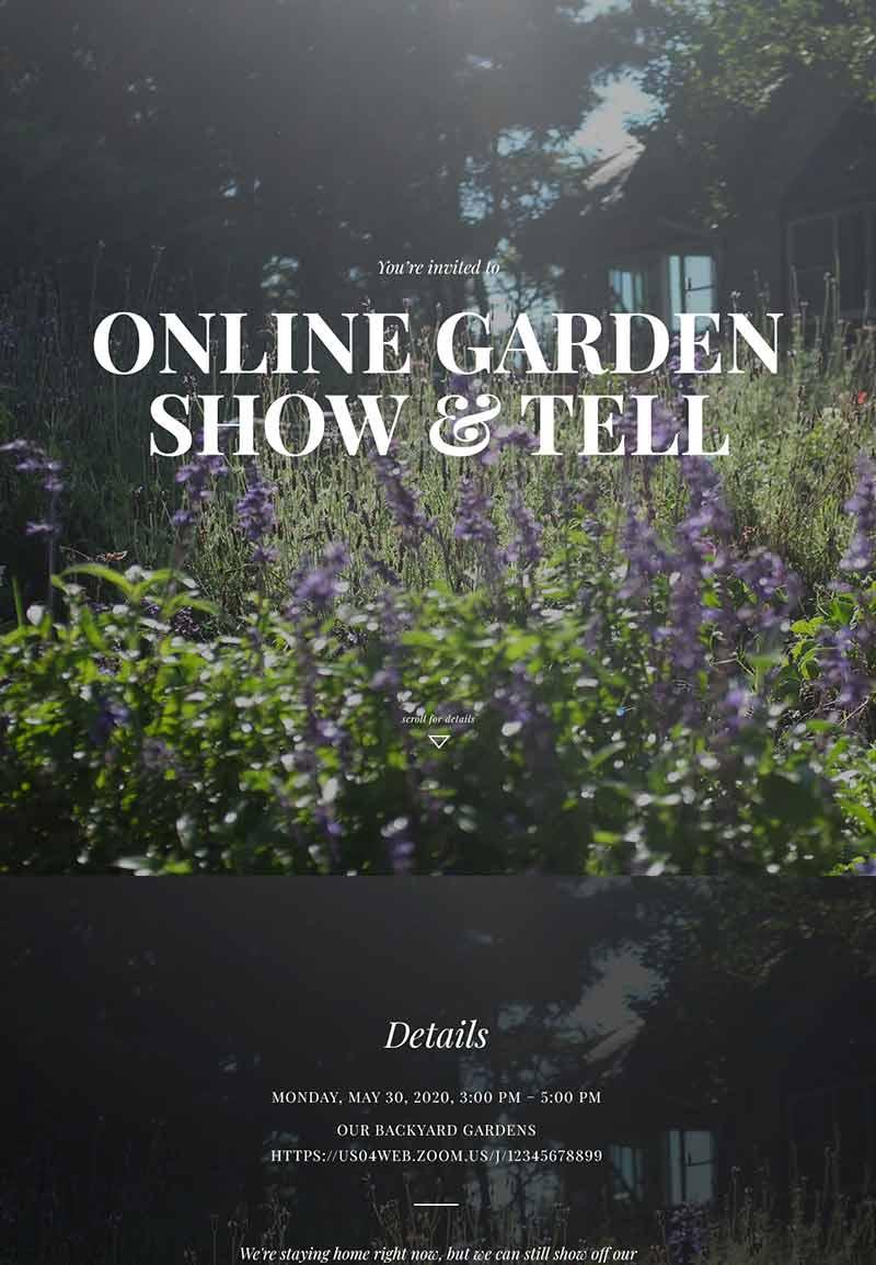 Seasonal - Virtual Gathering - Immersive Invitation
