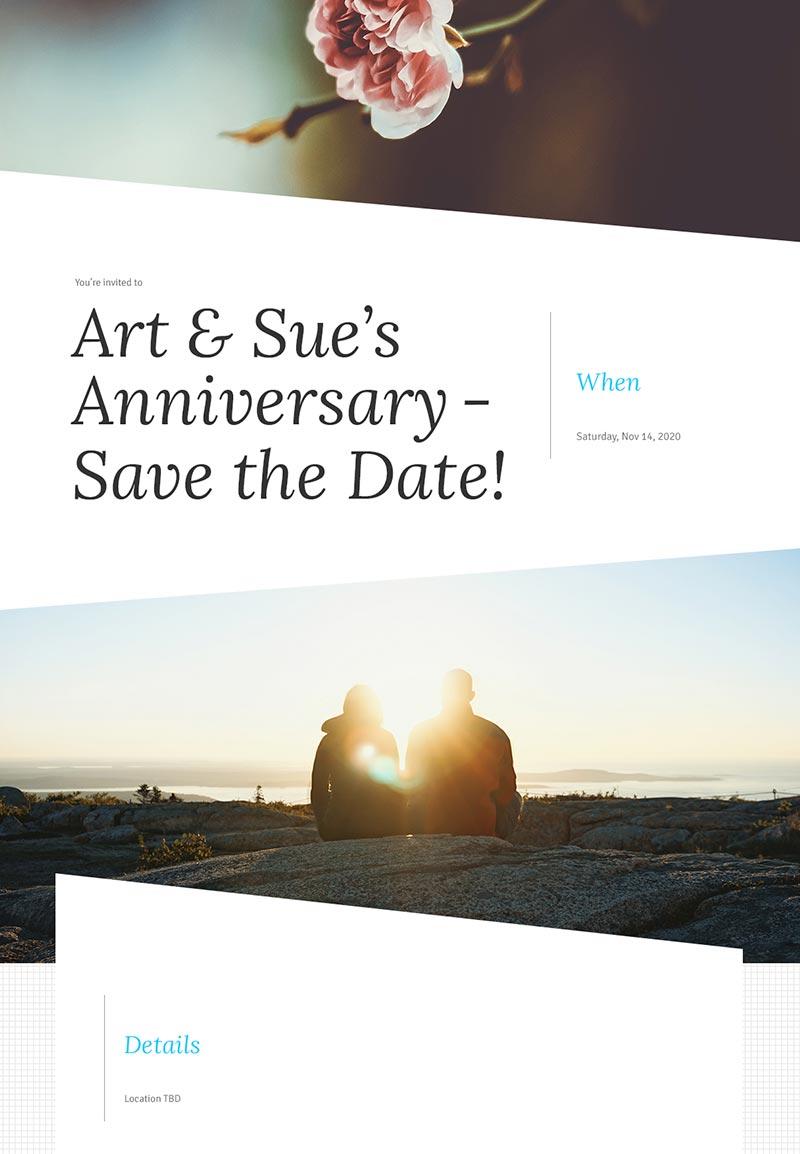 Seasonal - Save the Date - Modern Invitation