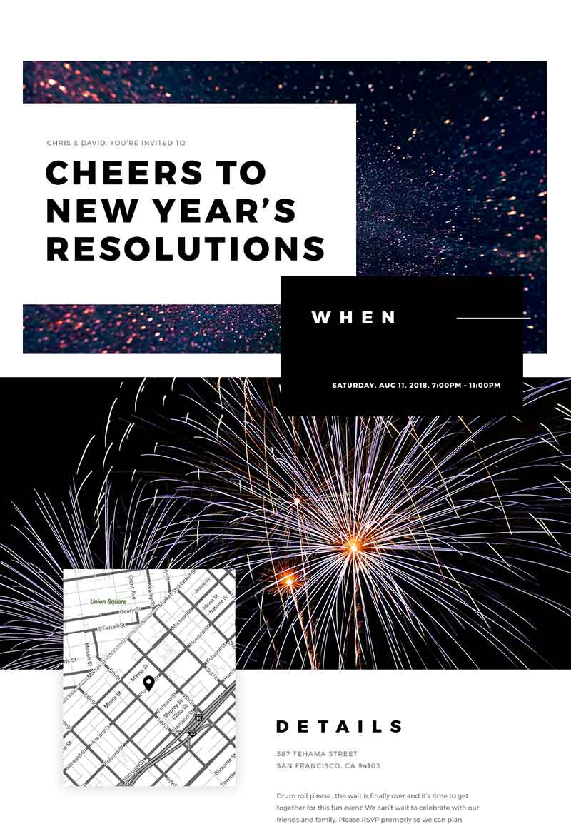 Seasonal - New Year's Eve - Classic Invitation