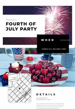 Seasonal - 4th of July - Classic Invitation