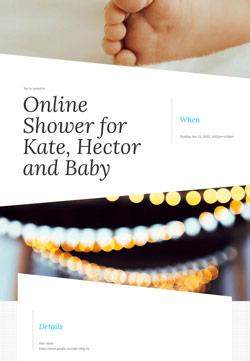 Baby Shower - Online Baby Shower - Modern Invitation