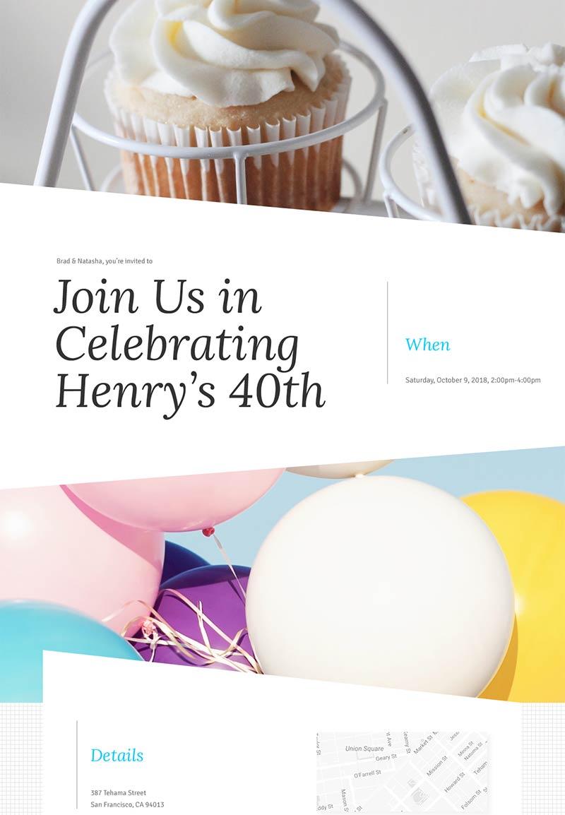 Pet Party - Big Bash Birthday - Modern Invitation