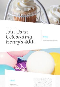 Adult Birthday - Big Bash Birthday - Modern Invitation