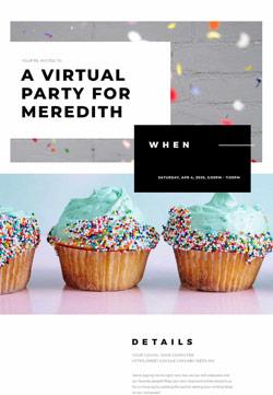 Adult Birthday - Virtual Birthday - Classic Invitation