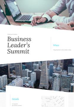 Business - Business Meeting - Modern Invitation