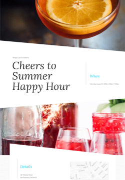 Cocktail Party - Cocktail Hour - Modern Invitation
