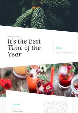 Seasonal - Christmas Celebration - Modern Invitation