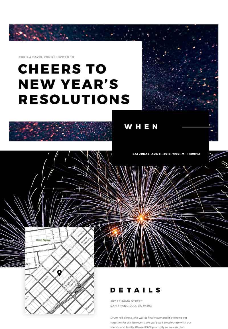 Graduation - New Year's Eve - Classic Invitation