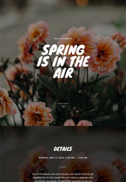 Seasonal - Spring Fun - Immersive Invitation