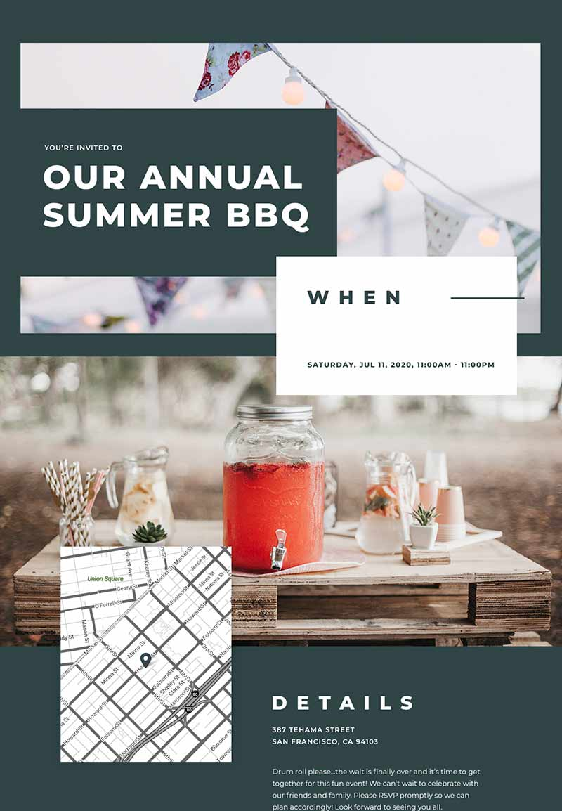Graduation - Summer BBQ - Classic Invitation