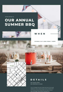 Seasonal - Summer BBQ - Classic Invitation